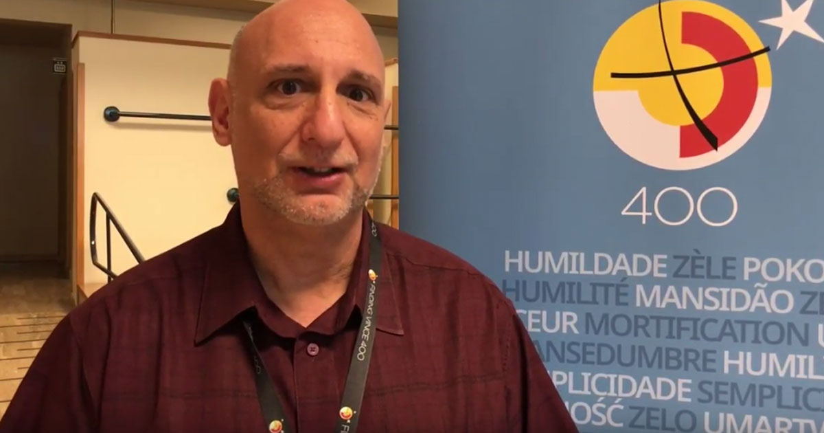 """Padre Joseph Agostino CM descreve o festival de cinema """"Encontrando Vicente 400"""""""