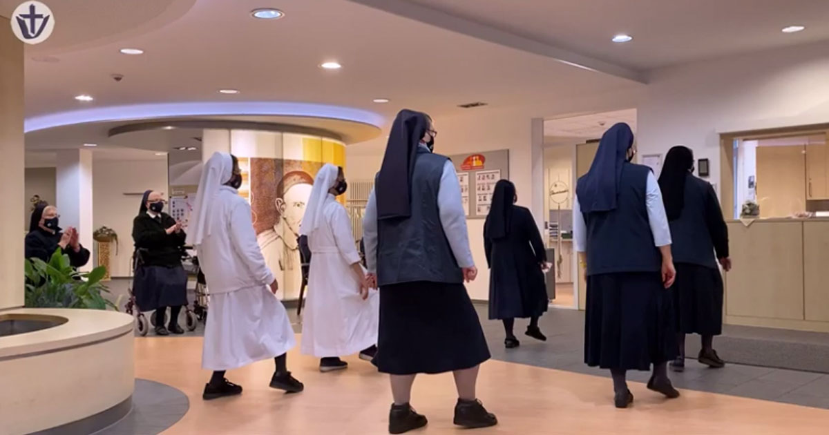 The Sisters of Charity of St. Vincent de Paul of Paderborn Dance!